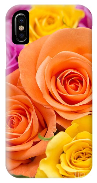 Close Focus Floral iPhone Case - A Riot Of Roses by Anne Gilbert