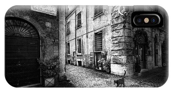 Alley iPhone Case - A Roman Cat by Jose C. Lobato
