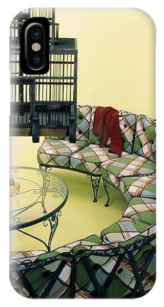 A Round Couch And A Birdcage IPhone Case