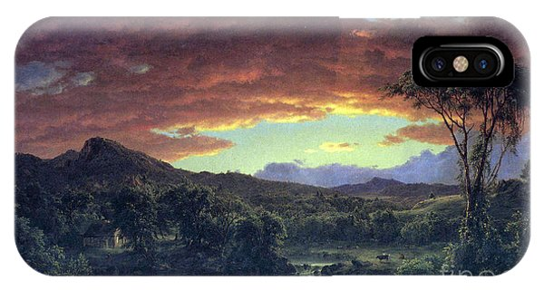 A Rural Home By Frederick Edwin Church IPhone Case