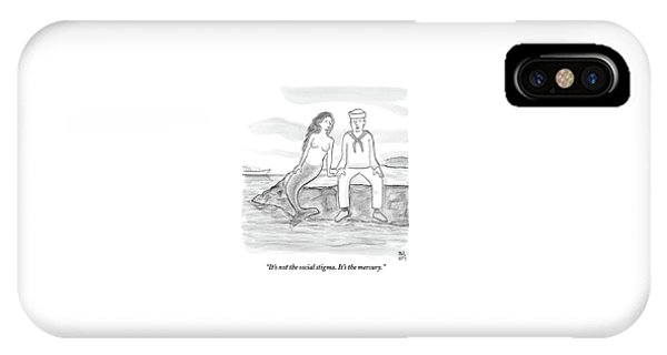 A Sailor Breaks Up With His Naked Mermaid IPhone Case