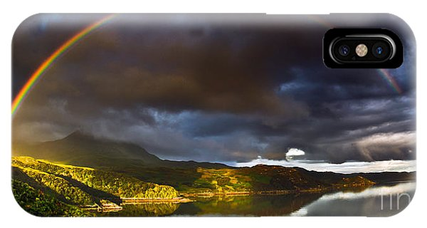 Heather iPhone Case - A Scottish Highland Rainbow Kylesku by John Farnan