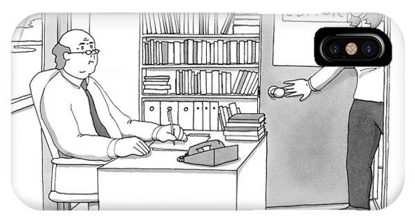 A Secretary Informs An Editor IPhone Case