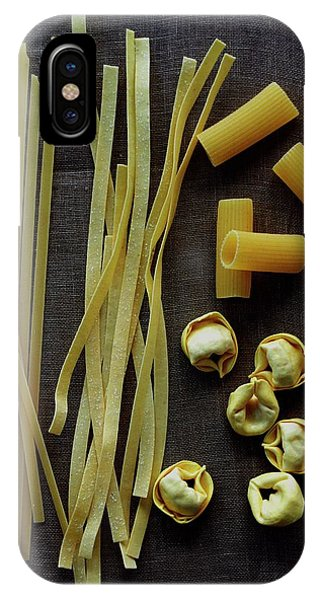 A Selection Of Uncooked Pasta IPhone Case