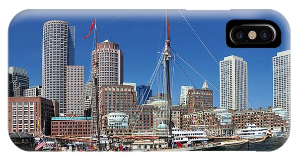 A Ship In Boston Harbor IPhone Case