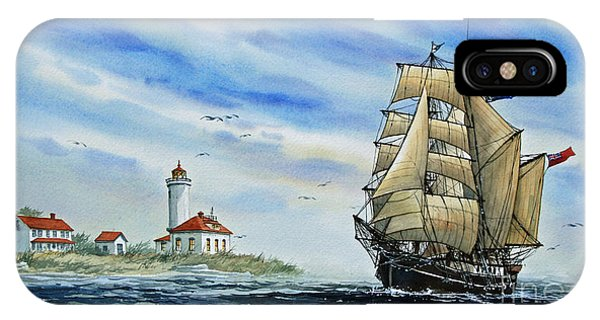 Port Townsend iPhone Case - A Ship There Is by James Williamson