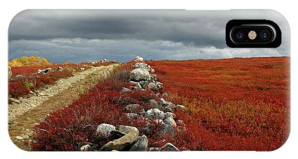Scarlet iPhone Case - A Single-track, Dirt Road Rises by John Orcutt