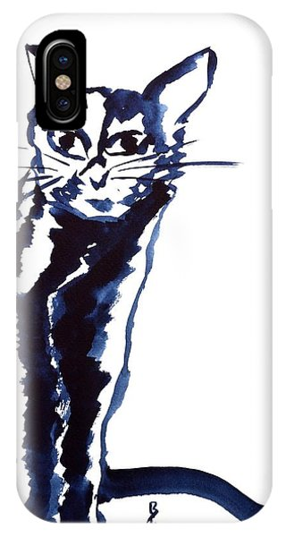 A Sketchy Cat IPhone Case