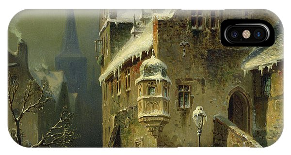 Ice iPhone Case - A Small Town In The Rhine by August Schlieker