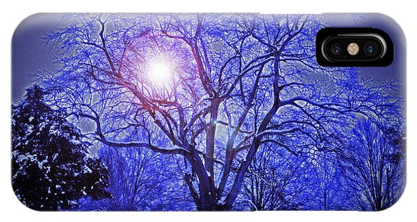 A Snow Glow Evening IPhone Case