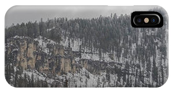 A Snowy Day In Spearfish Canyon Of South Dakota IPhone Case