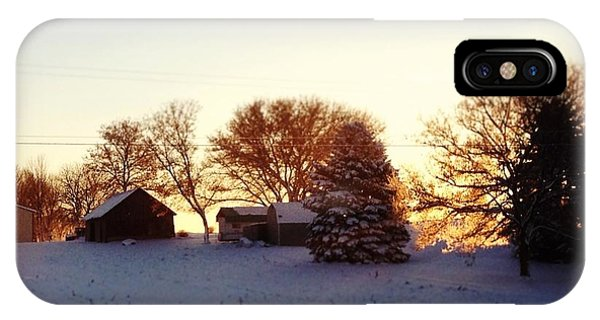 Landscapes iPhone Case - A Snowy Morning by Christy Beckwith