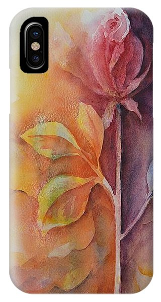 A Solitary Rose IPhone Case