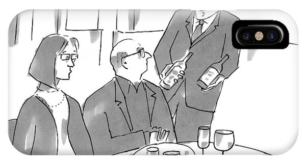A Sommelier Holds Up Two Bottles Of Wine IPhone Case