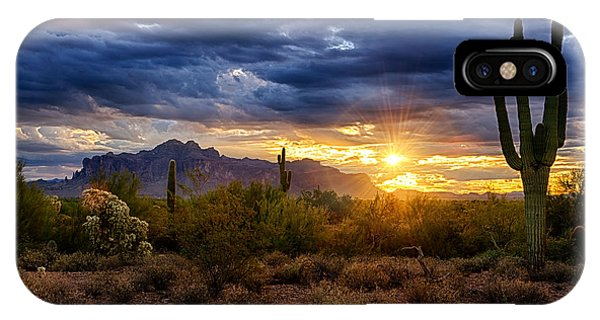 A Sonoran Desert Sunrise IPhone Case