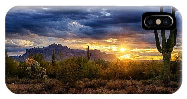 A Sonoran Desert Sunrise IPhone Case