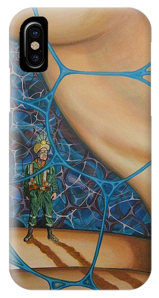 A Spelunkers Search For Life IPhone Case