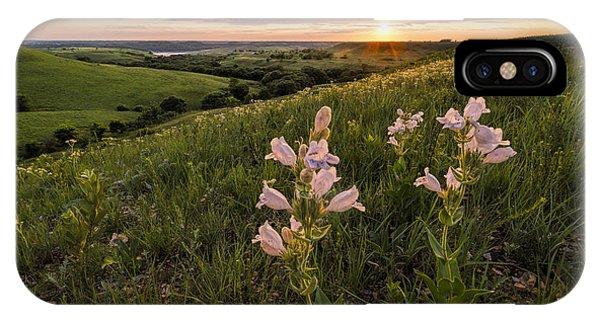 Meditative iPhone Case - A Spring Sunset In The Flint Hills by Scott Bean