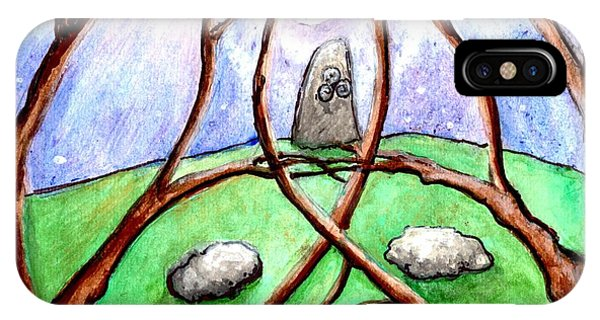 A Stone In The Grove In Moonlight IPhone Case