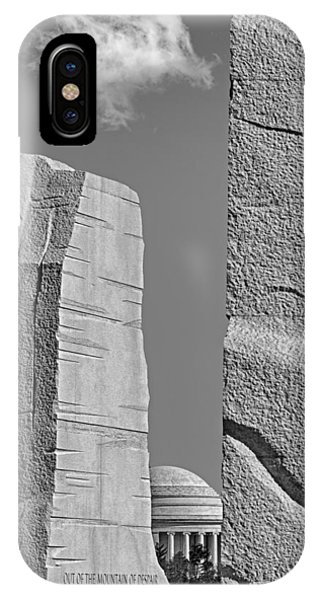 A Stone Of Hope Bw IPhone Case