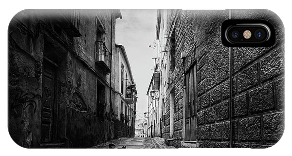 Alley iPhone Case - A Street In The Old Zamora by Jose C. Lobato