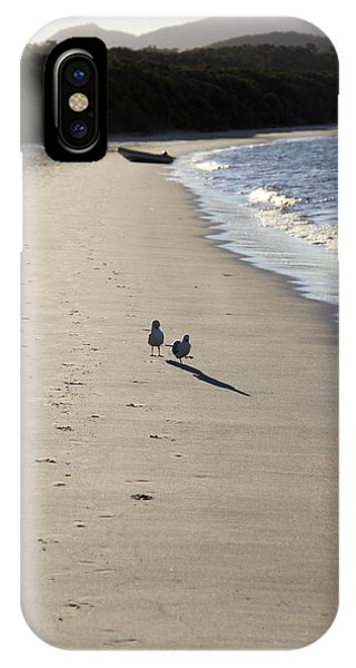 IPhone Case featuring the photograph A Stroll Along The Beach by Debbie Cundy