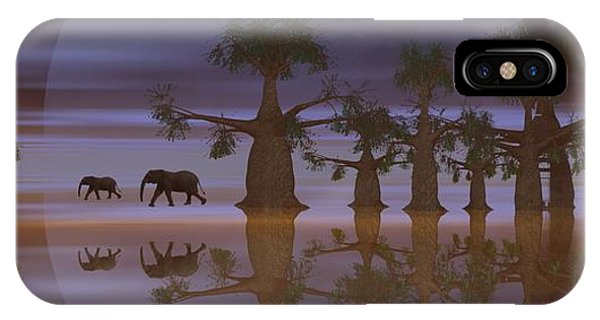 A Stroll By Moonlight IPhone Case