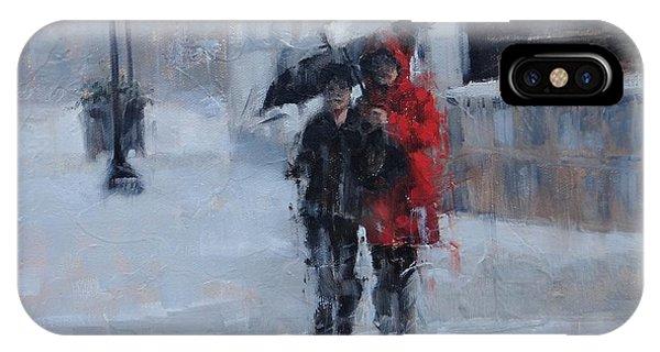 A Stroll In The Rain IPhone Case