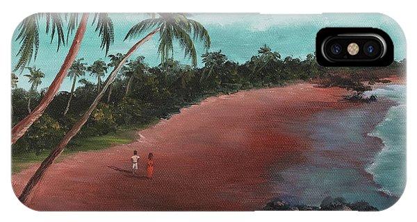 A Stroll On A Tropical Beach IPhone Case