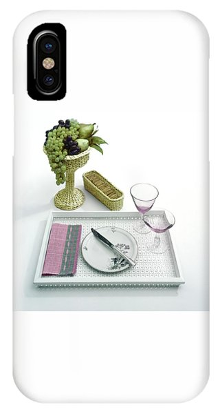 A Summer Table Setting On A Tray IPhone Case