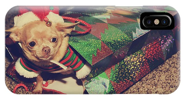 Chihuahua iPhone Case - A Sweet Christmas Surprise by Laurie Search