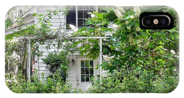 A Swell Side Entrance With Oakleaf Hydrangea IPhone Case