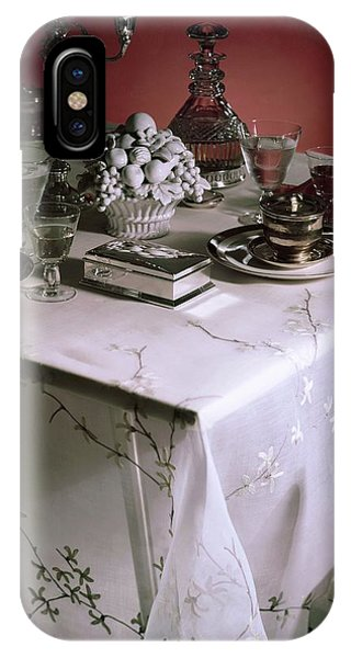 A Table Set With Delicate Tableware IPhone Case