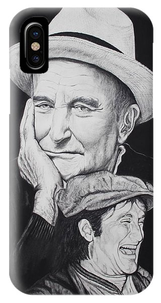 Robin Williams Comedian iPhone Case - A Tale Of Two Faces by Charles Rogers