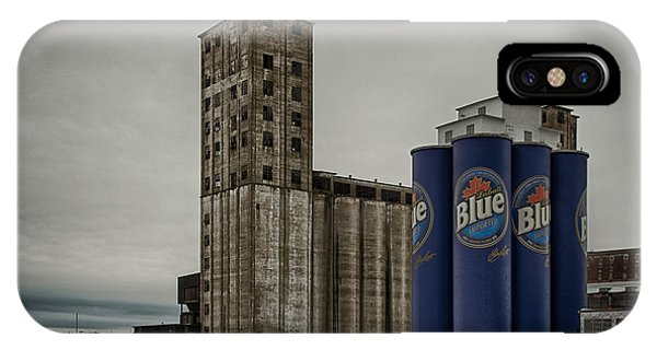 A Tall Blue Six-pack IPhone Case