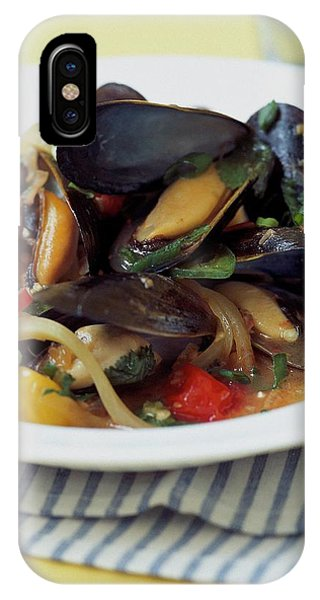 A Thai Dish Of Mussels And Papaya IPhone Case