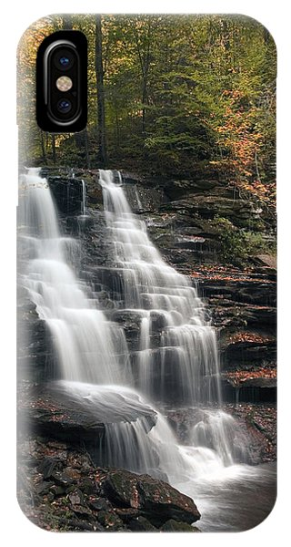 A Touch Of Autumn At Erie Falls IPhone Case