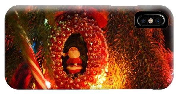 IPhone Case featuring the photograph A Treasured Santa by Laurie Lundquist