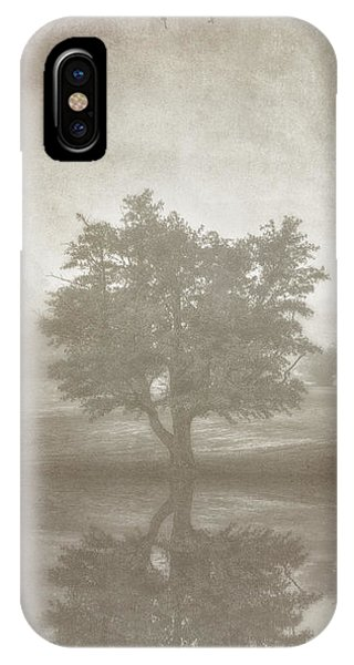 Fog Mist iPhone Case - A Tree In The Fog 3 by Scott Norris