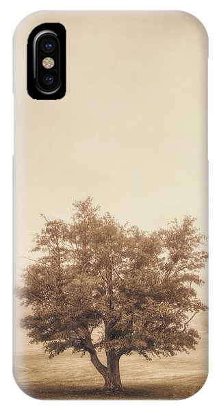 Fog Mist iPhone Case - A Tree In The Fog by Scott Norris