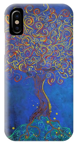 A Tree Of Orbs Glows IPhone Case