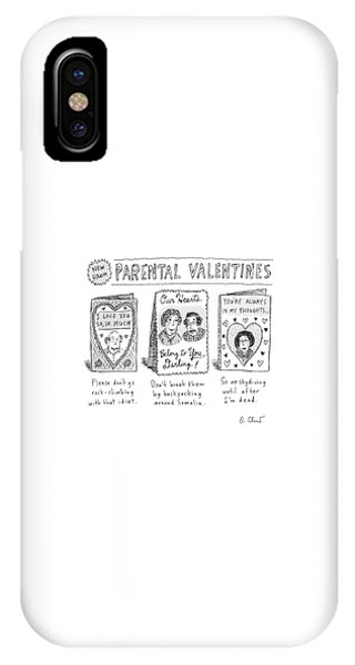 A Triptych Of Parental Valentines Day Cards That IPhone Case