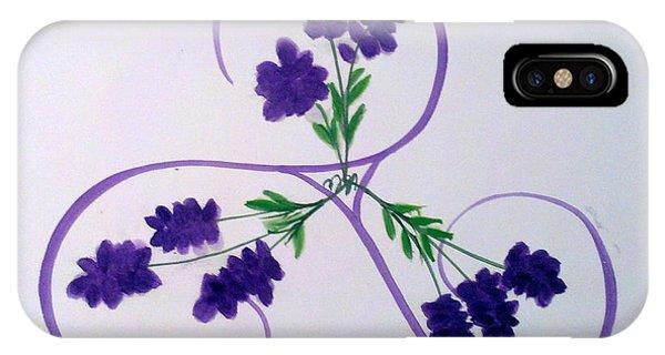 A Triskele Of Lavender IPhone Case