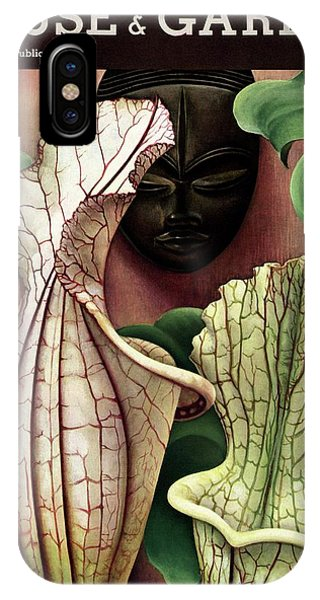 A Tropical Flower And An African Mask IPhone Case