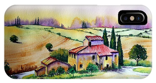 A Tuscann Farmhouse IPhone Case