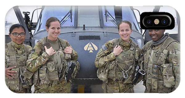 Helicopter iPhone Case - A U.s. Army All Female Crew by Stocktrek Images