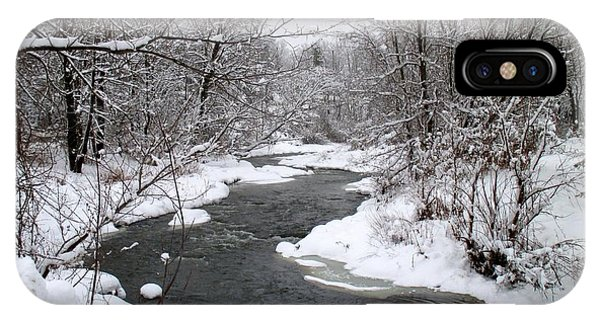 A Vermont Stream In Winter IPhone Case