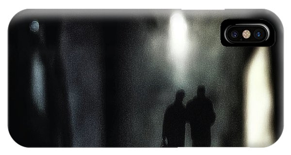 Street Light iPhone Case - A Very Long Walk Together by Piet Flour