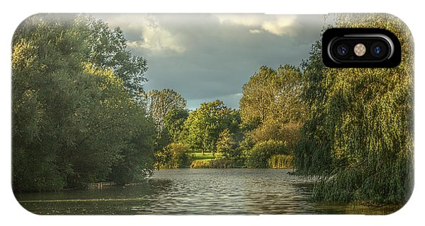 IPhone Case featuring the photograph A View Down The Lake by Jeremy Hayden