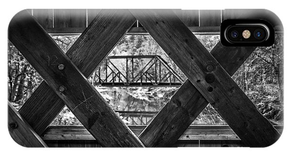 Trestle iPhone Case - A View From An Old Covered Bridge In Vermont by Edward Fielding